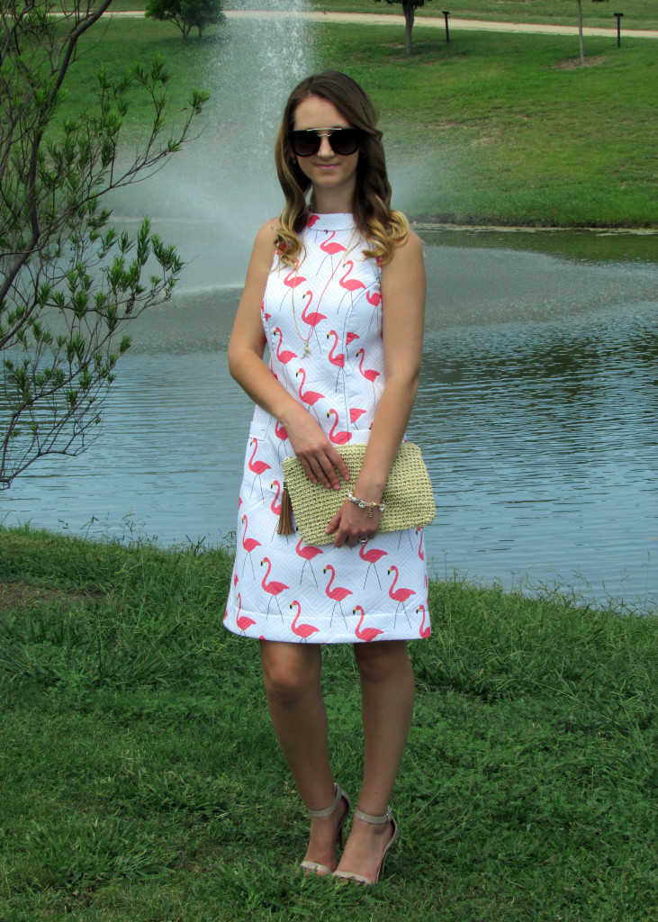 eShakti flamingo dress