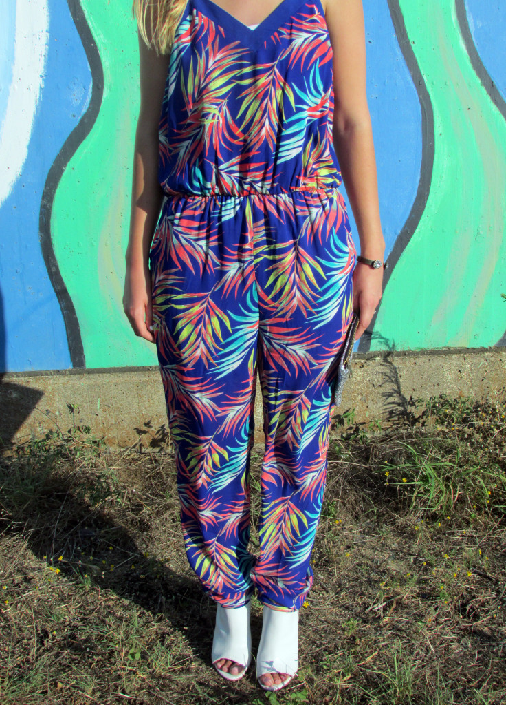 Colorful palm tree jumpsuit, Target