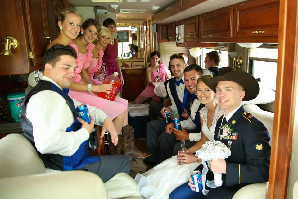 wedding party, RV, wedding day, Mr. and Mrs.