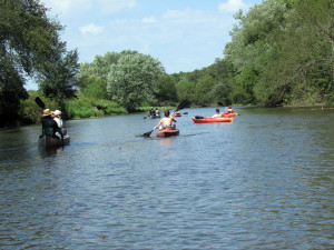 kayaking, canoeing, Upper Iowa River, camping
