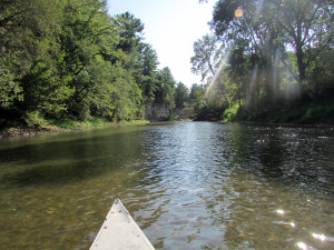 canoeing, Upper Iowa River, river