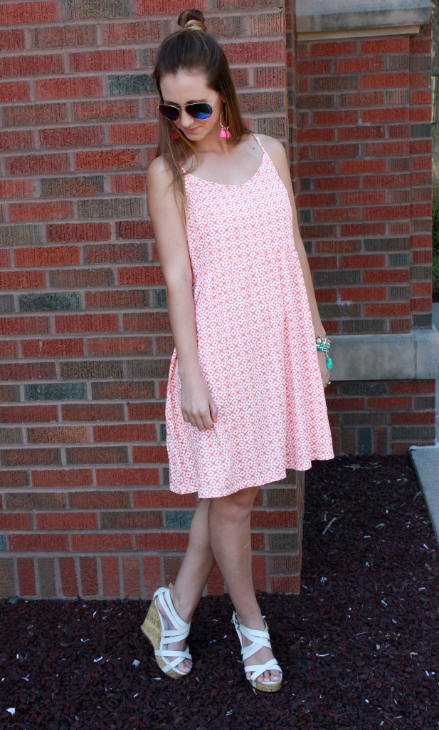 Shoe Dazzle wedges, Old Navy Dress