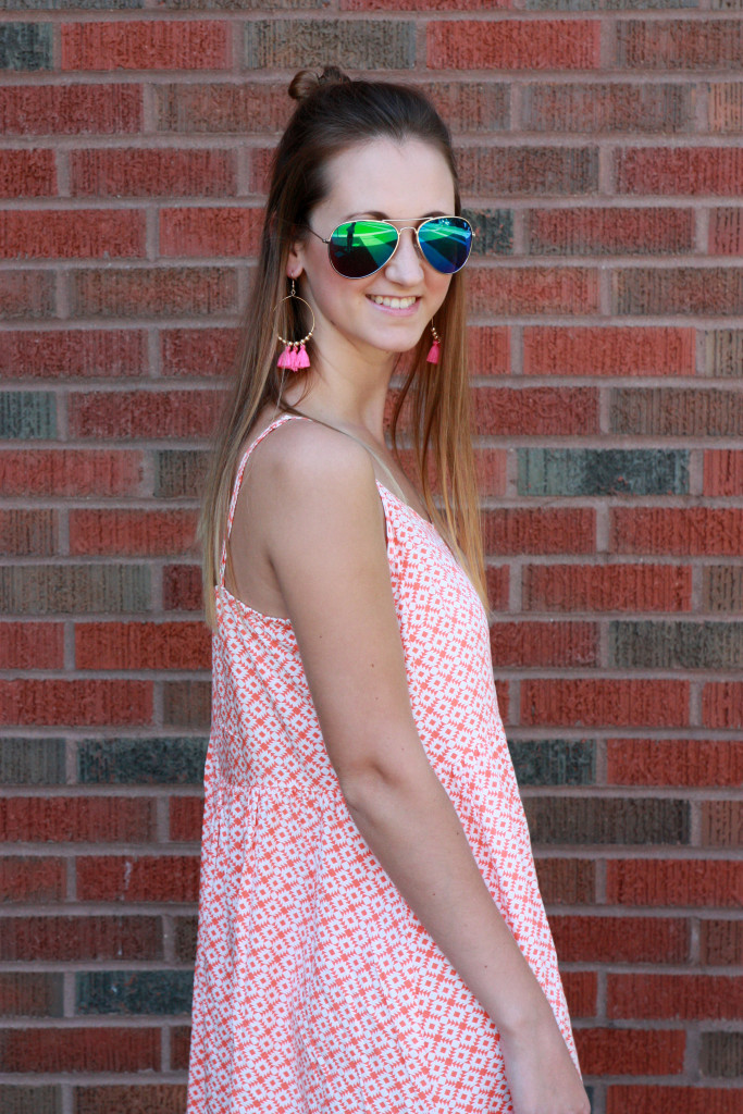 tassel earrings, Old Navy Dress