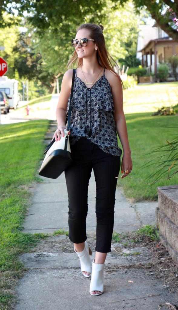 Old Navy top, American Eagle jeans