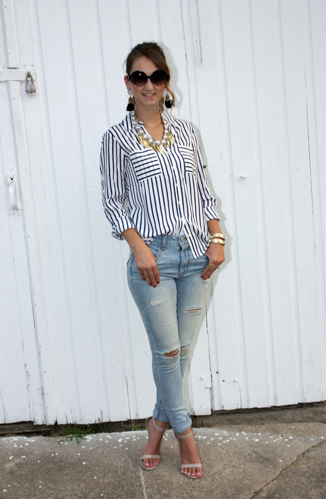 stripes, Express, casual look