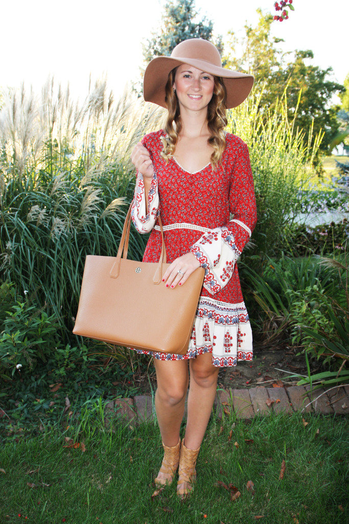 Tory Burch, perry tote, floppy hat