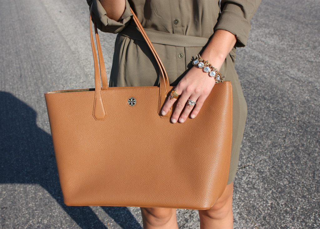 Tory Burch bag, perry tote, Luxe Statements