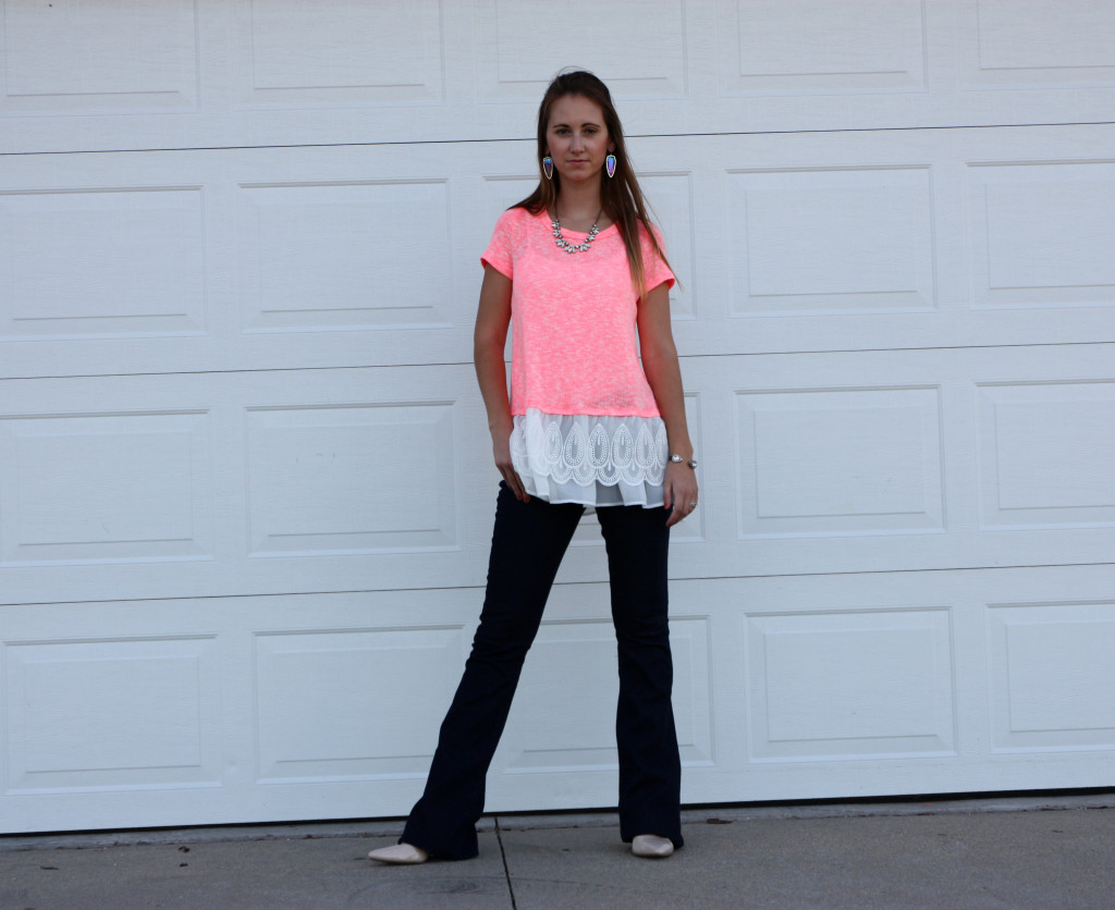 Express, flare jeans, lace