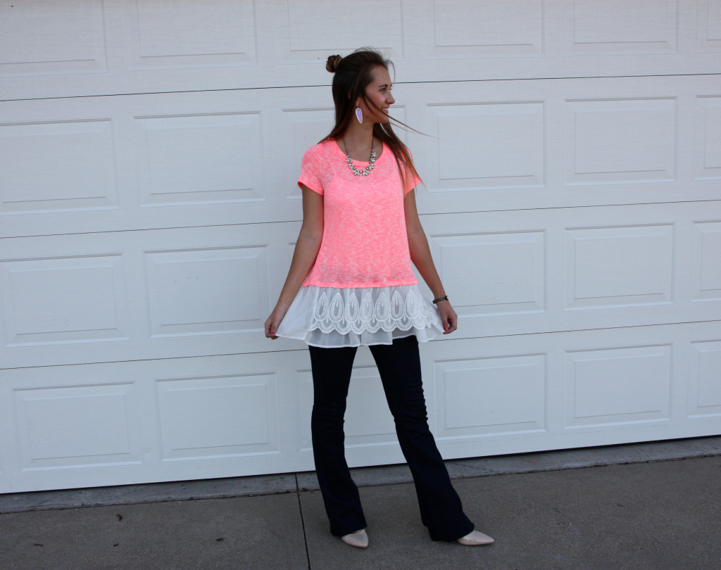 flares, Express, lace top