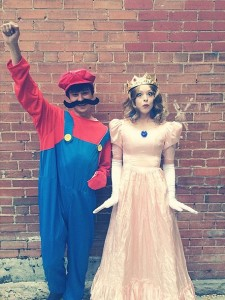 mario, princess peach, diy halloween costume