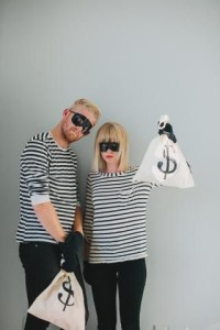bank robbers, diy, halloween costume