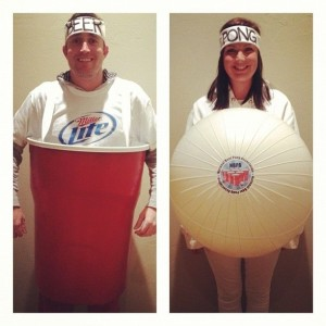 beer pong, red solo cup, ball, Halloween