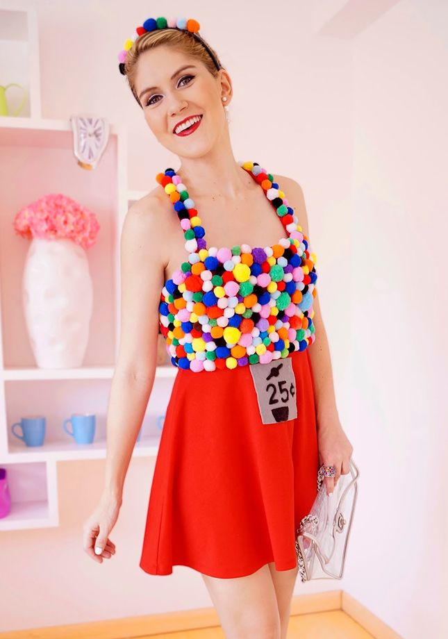 20 diy halloween costume ideas for the love of glitter diy halloween costume gumball machine solutioingenieria Image collections