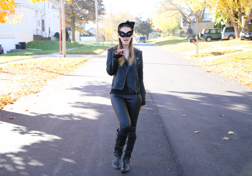 meow, diy cat woman costume, Halloween