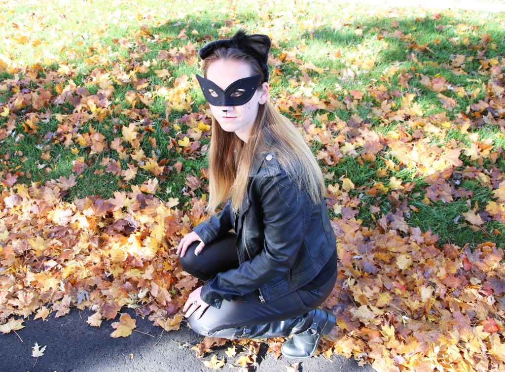 black, diy cat woman Halloween costume