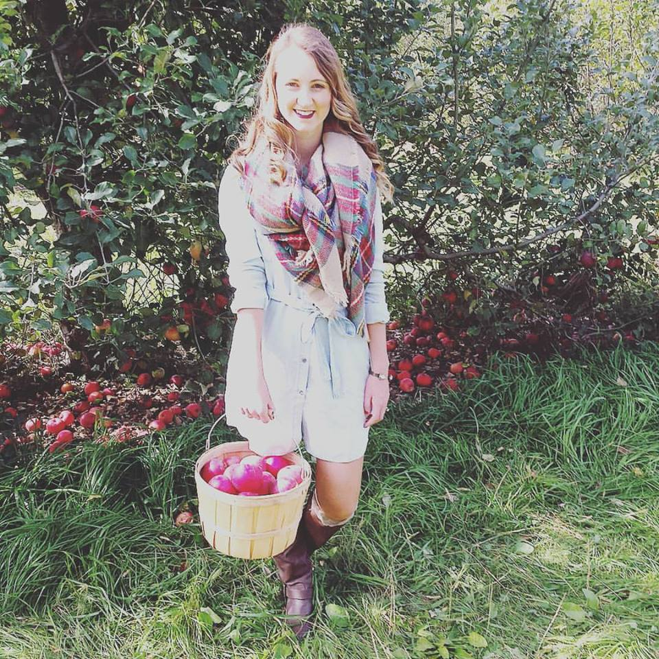 Wilson's Orchard, apple picking, Forever 21, shirt dress