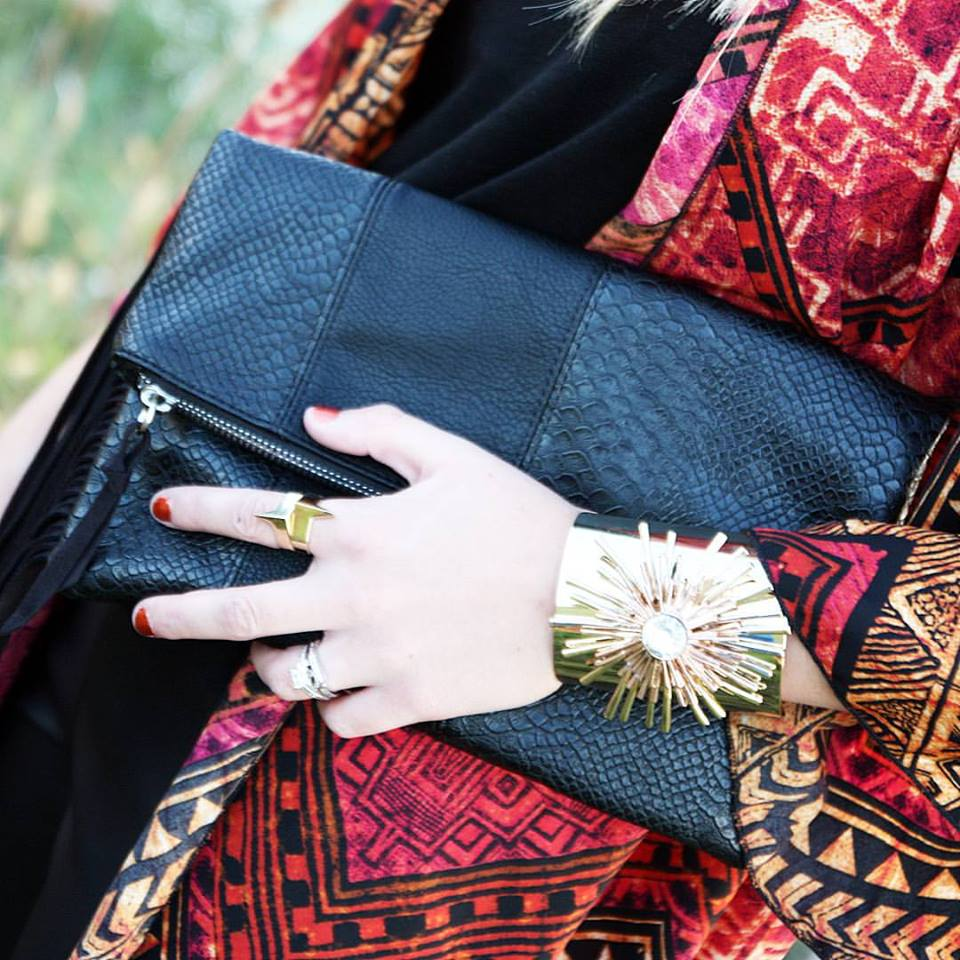 Express clutch, tassels, Boston Propper