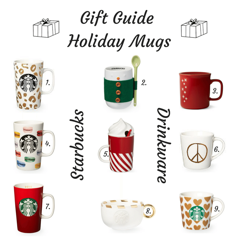 gift guide, holiday mugs, Starbucks holiday mugs
