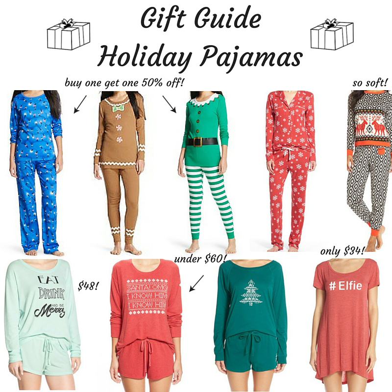 Gift Guide Holiday Pajamas 1