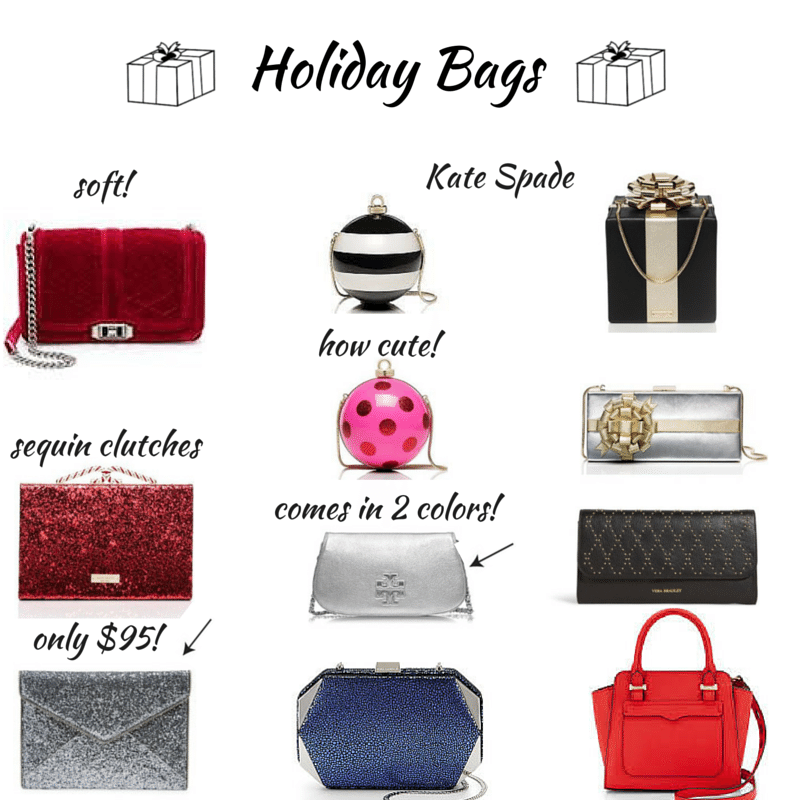 canva collage,holiday bags,Kate Spade
