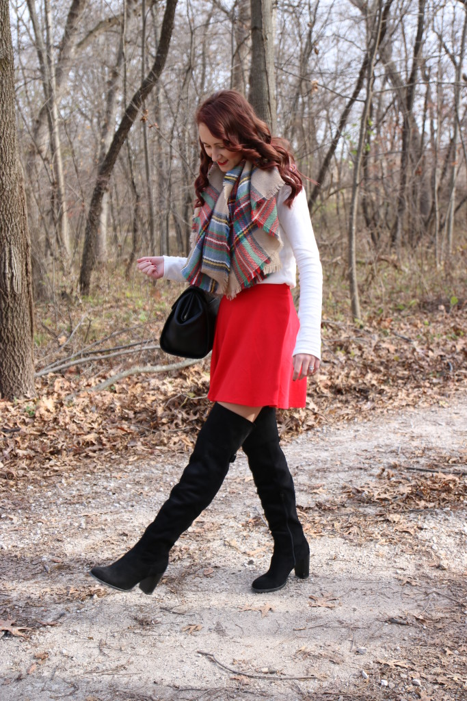 holiday look, Forever 21 skater skirt