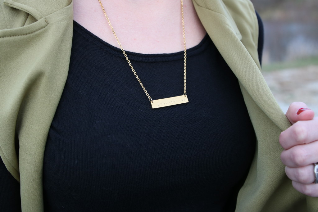 dinahdesigns roman numeral necklace