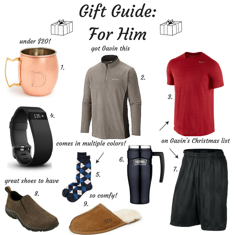 gift guide, for him, holiday collage