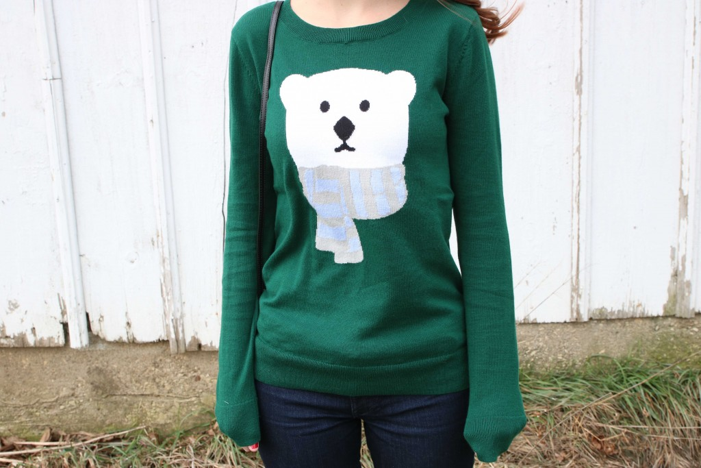 Loft, polar bear Christmas sweater