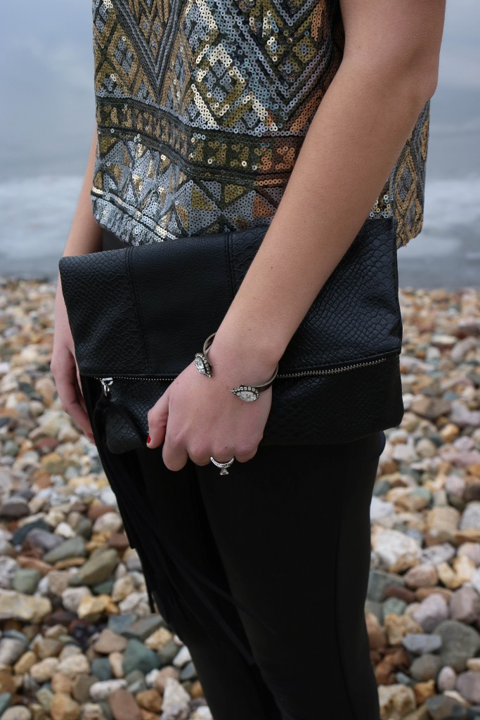 Loren hope cuff, Express fringe clutch