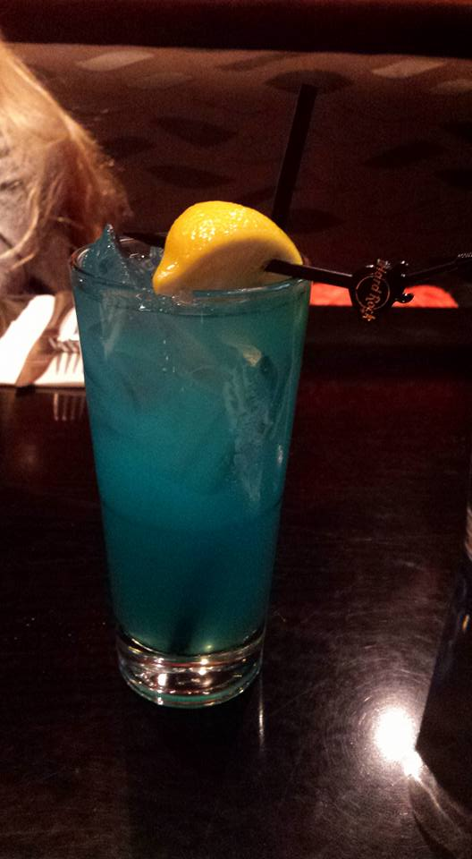Hard Rock Cafe, Las Vegas, blue drink