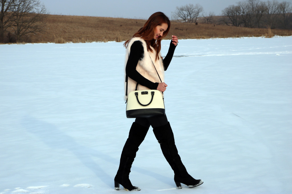 winter, Iowa, snow, scuba leggings