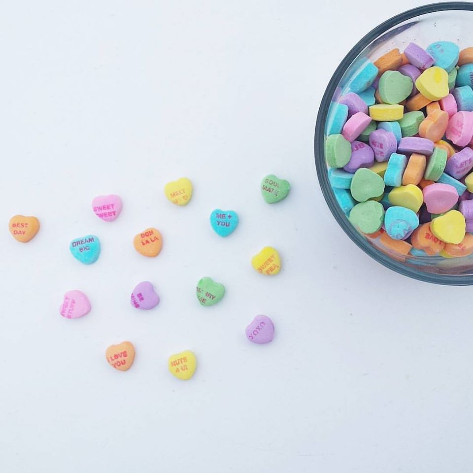Valentine's Day candy, hearts