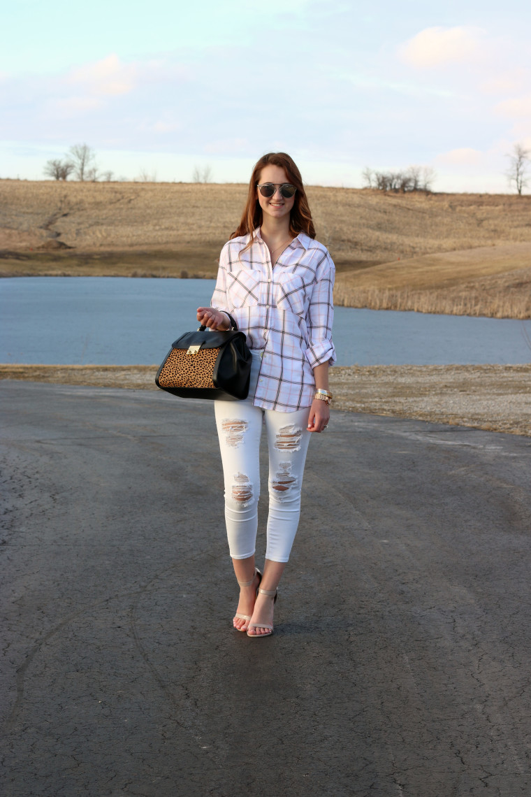 casual look, plaid, leopard