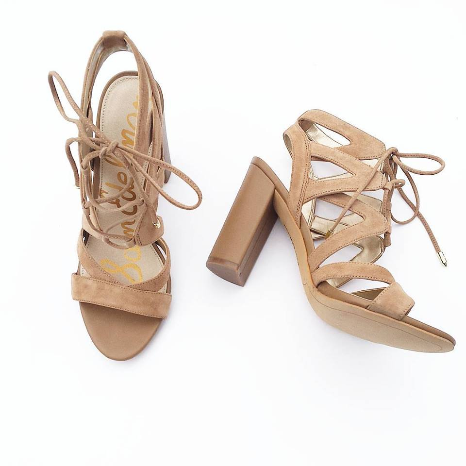 Sam Edelman sandals, lace-up sandals, Dillards
