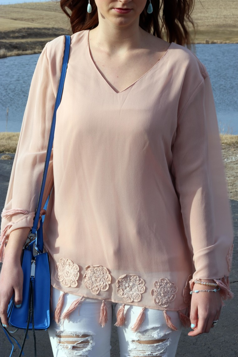 Rebecca Minkoff tote, Field to Fab blouse