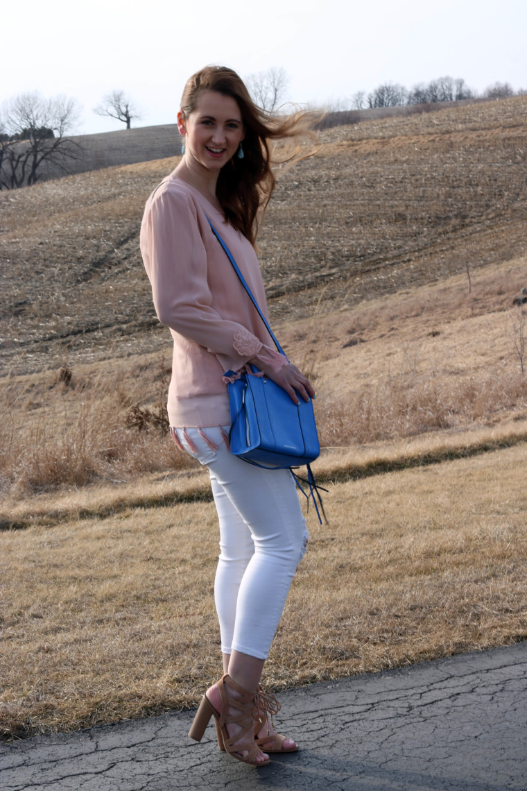 windy, Spring colors, pastel pink, Rebecca Minkoff tote, Sam Edelman sandals