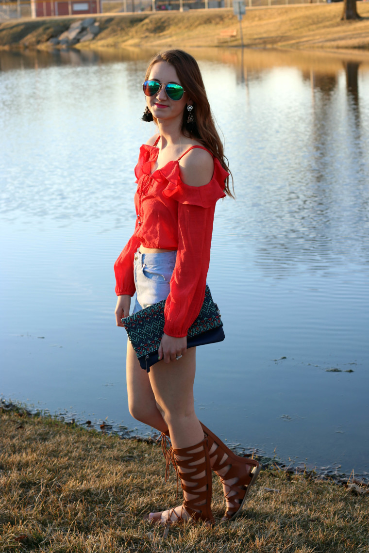 Forever 21 top, OTS top, bright orange