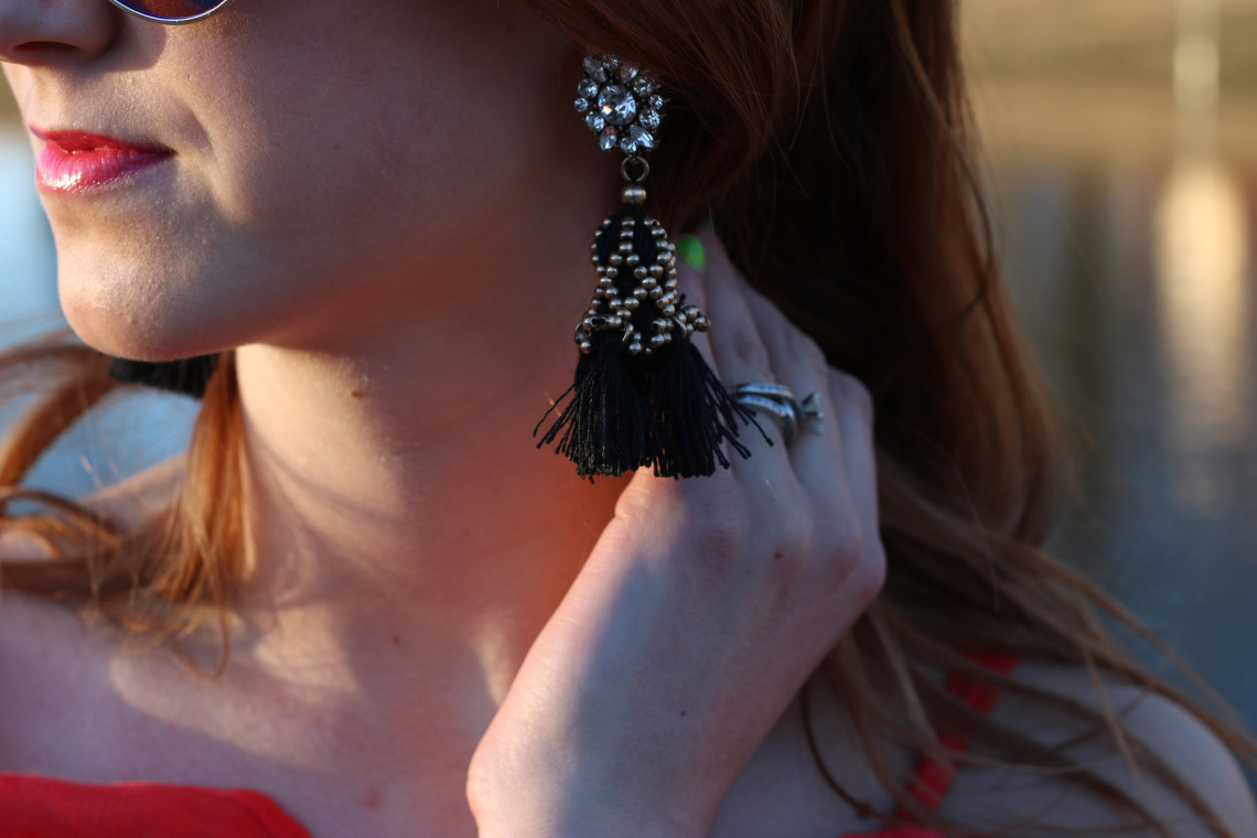 Happiness Boutique earrings, tassels