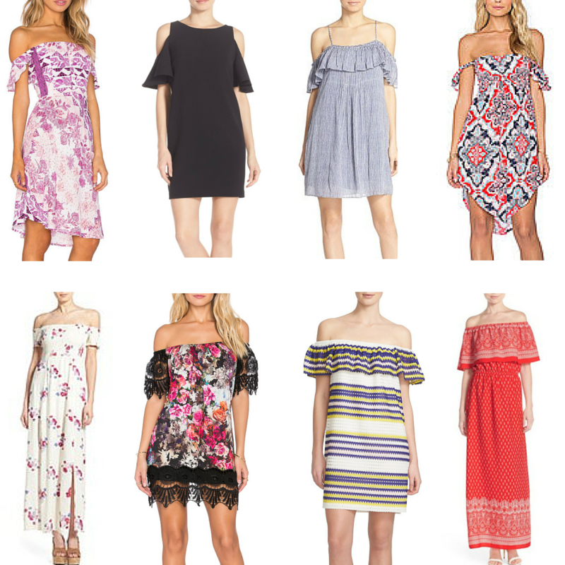 off the shoulder dresses, Nordstrom, Revolve clothing, floral, Spring dresses