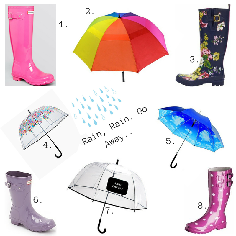 Spring showers, rainy day, umbrellas, rain boots, Target, Vera Bradley
