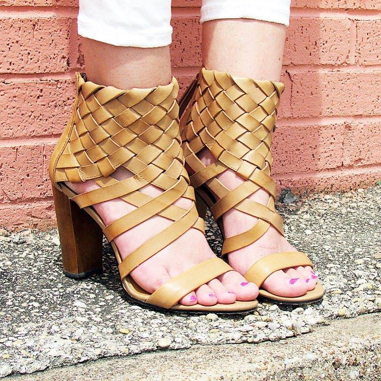 Misguided ankle cuff sandals