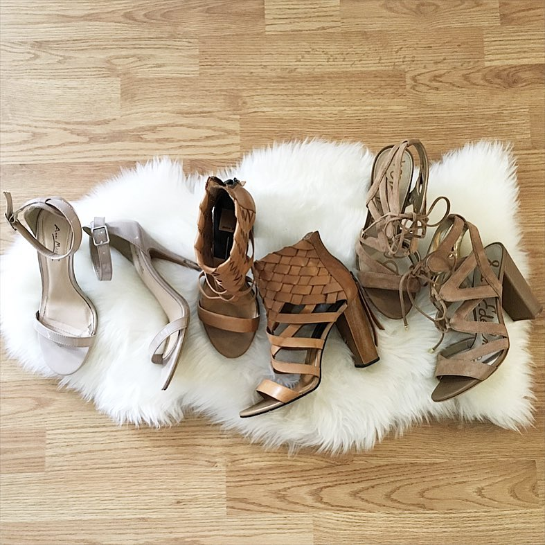 nude sandals, dolce vita, lace up sandals, Sam Edelman