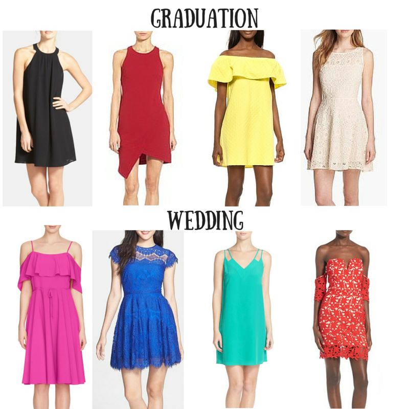 graduation dresses, wedding guest dresses, spring, bright colors, Nordstrom