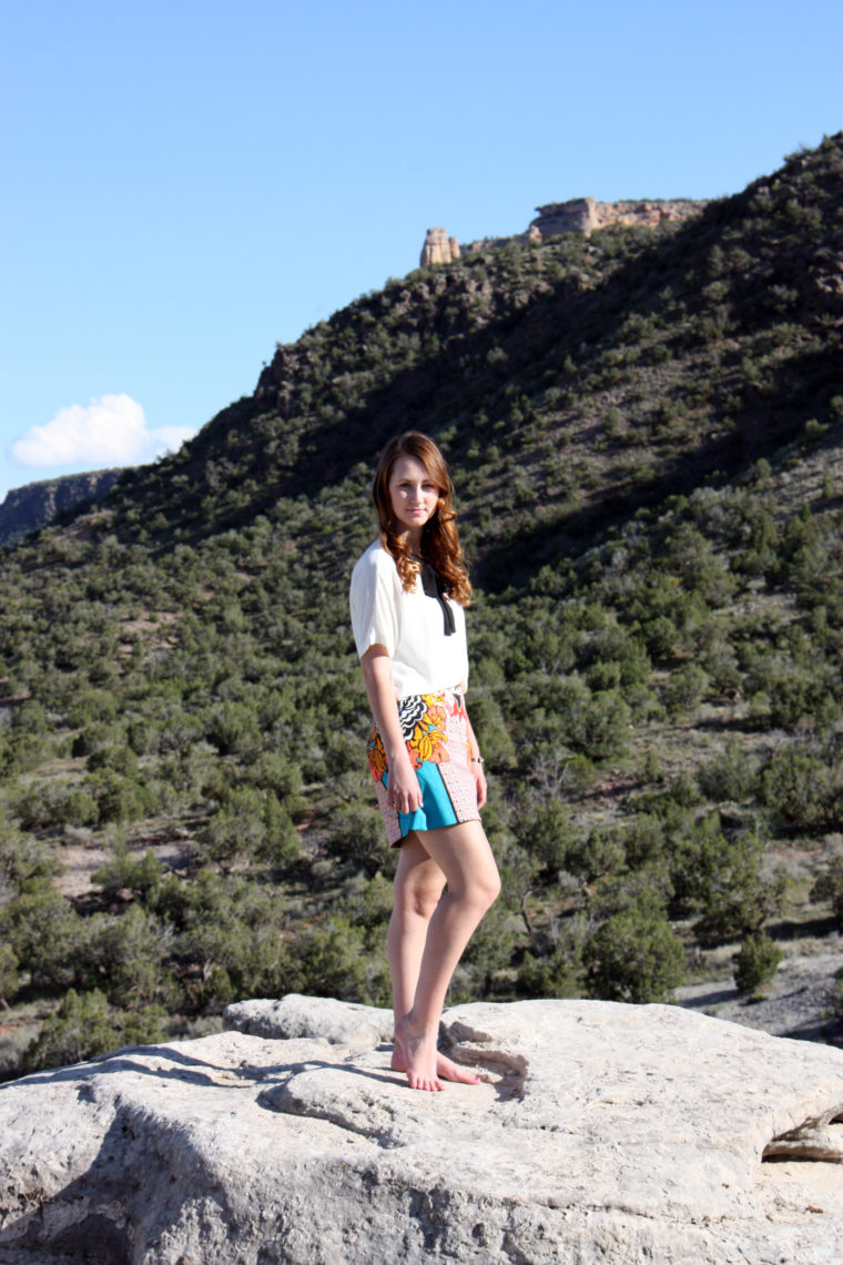 Colorado National Monument, travel blogger, office outfit, Express tie blouse