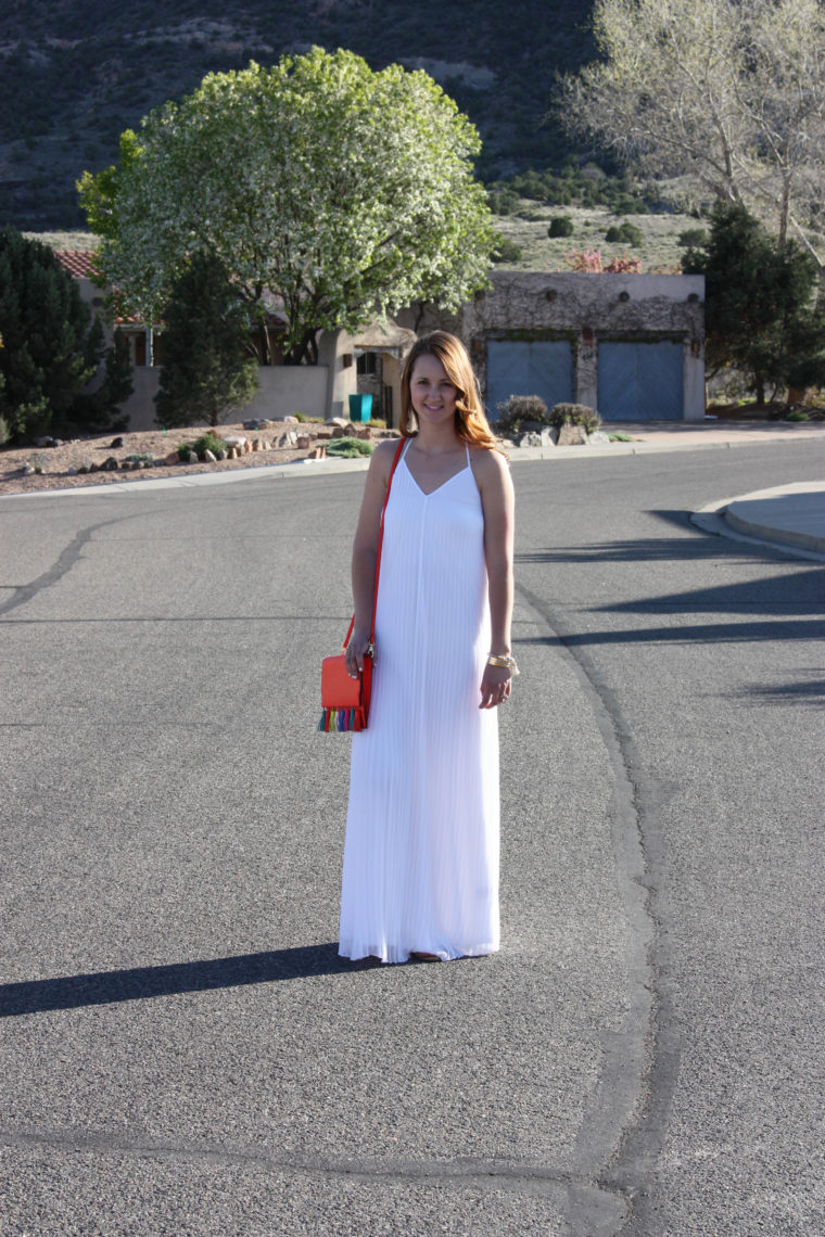 Express white pleated maxi dress, Grand Junction Colorado