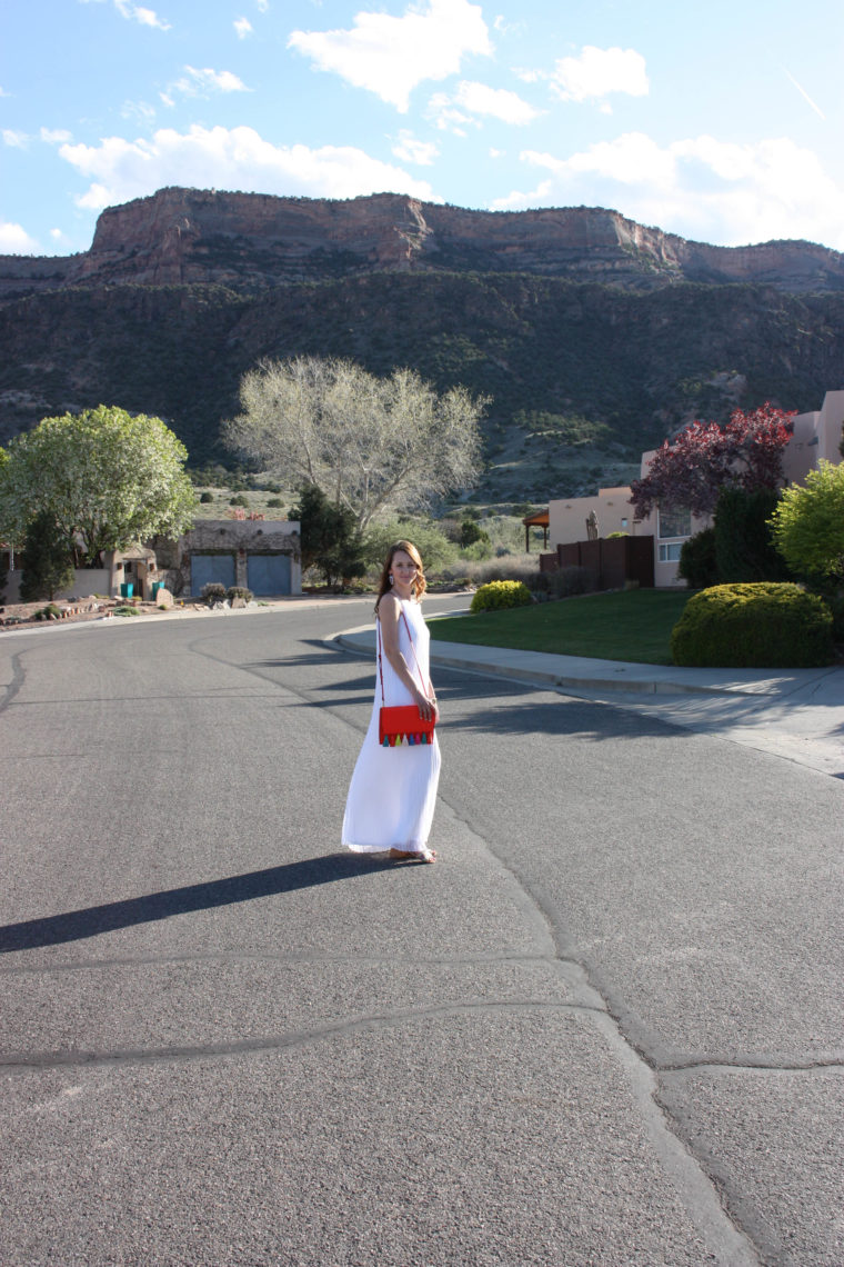Colorado National Monument, Colorado, Express pleated maxi dress, travel blogger, Spring look