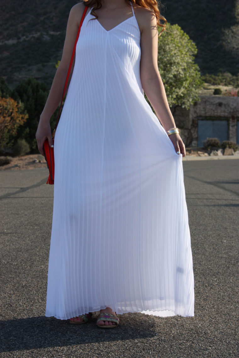 Express pleated maxi dress, Grand Junction, Colorado
