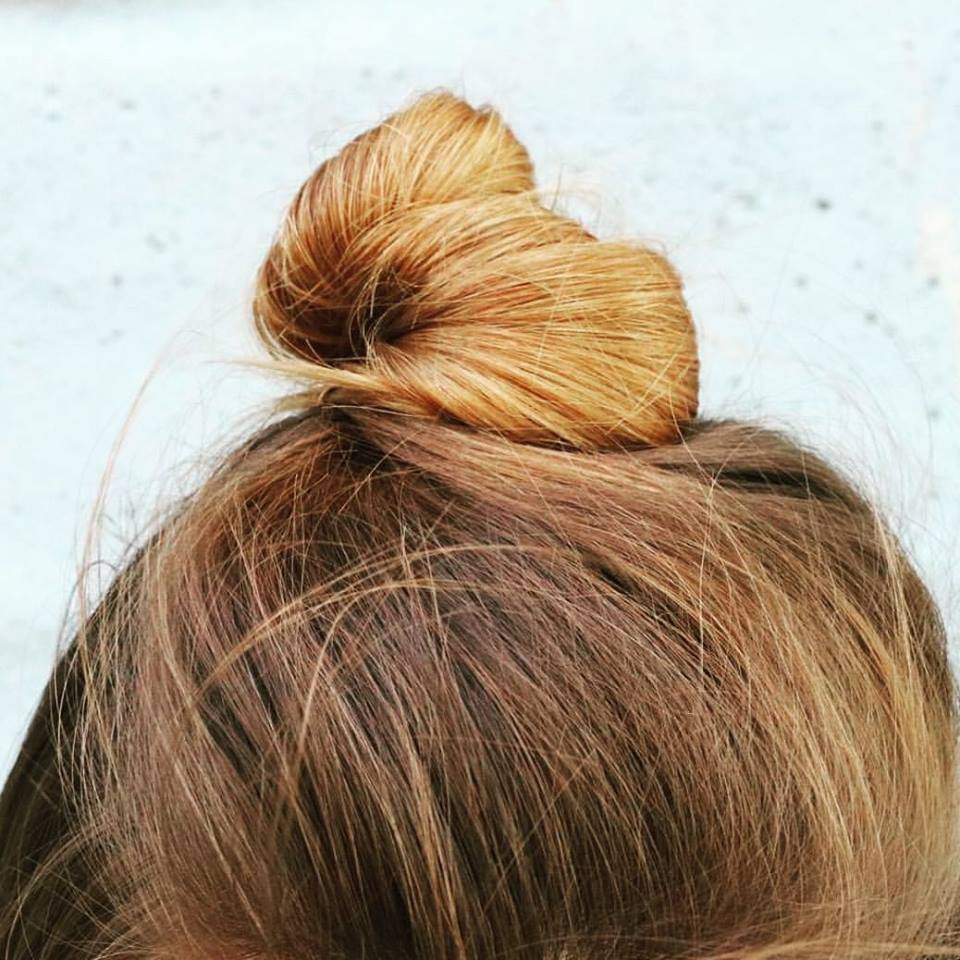 top knot, Sunday Bunday, blonde hair, summer hair