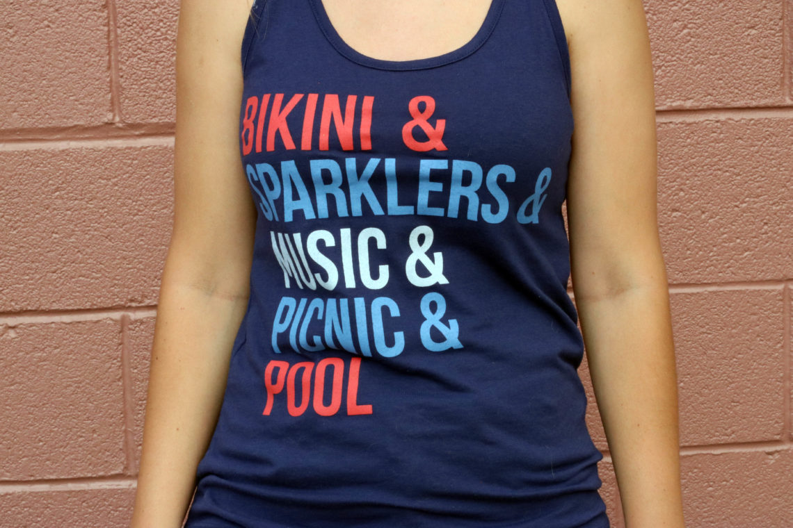 bikini, sparklers, music, picnic, pool, red, white, and blue