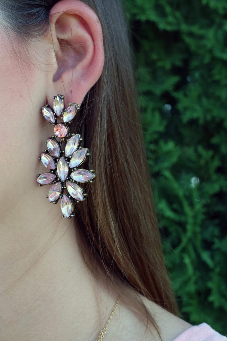 statement earrings, Happiness Boutique earrings, pink earrings